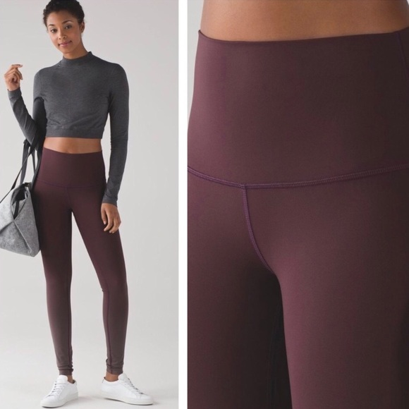 11f5f271ec lululemon athletica Pants - Black Cherry Ombré lululemon wunder under pants